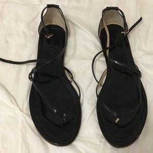 J. Crew Cross-cross Patent Sandals